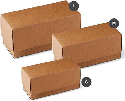 Selfpackaging Caja Regalo cubeta con Tapa de cartón - Pack de 50 ...