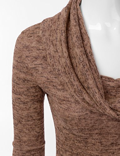 Le Il Maglione In Una Cappuccio Doublju Usa Donne Per Vestito Awoswl0180 made Con Tunica Linea Più Collo Formato Galestroso mocha Superiore xqOwY1Bvq