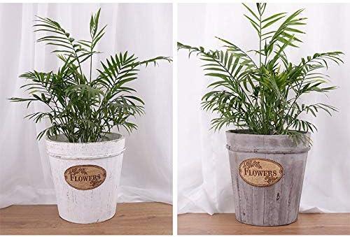 天然木のプランター/植木鉢、素朴な植木鉢,Grey-A-15.5×11×17.5cm