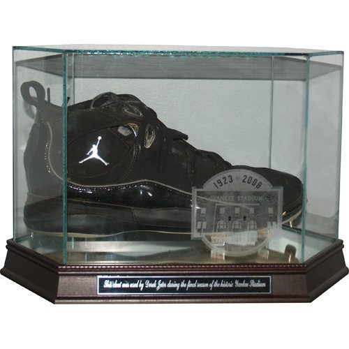 Derek Jeter 2008 Unsigned Game Used Cleat with Etched Case and Plate