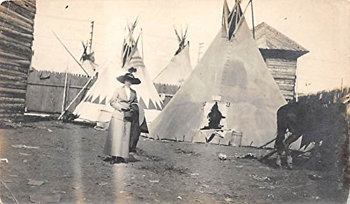 Teepee Postcard (Teepees Indian Postcard)