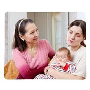 alfombrilla de ratón Madre madura pide perdón a hija adulta - rectangular - 23cm x 19 cm