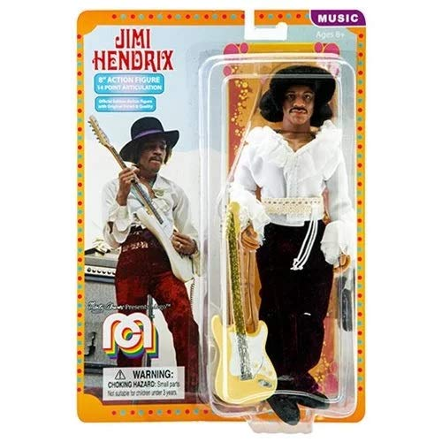 Jimi Hendrix-Action Figure-14 Point-W/Fender Guitar-2018-19-Licensed-New In ()