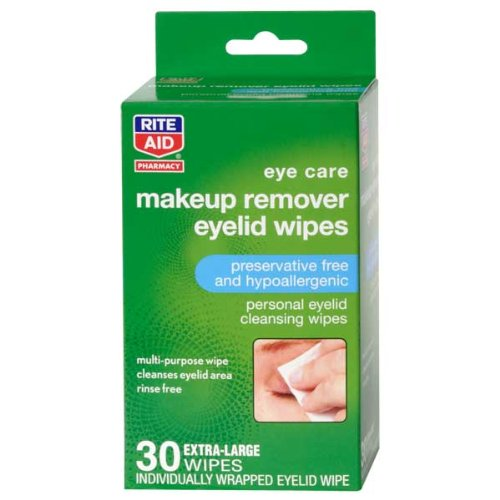 Rite Aid Makeup Remover Eyelid Wipes 30Ct