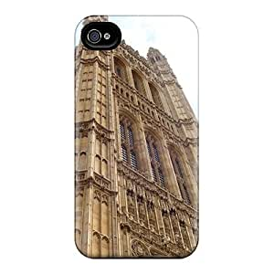 LJF phone case Premium VIYANuC142BTAGE Case With Scratch-resistant/ Parliament London Case Cover For Iphone 4/4s