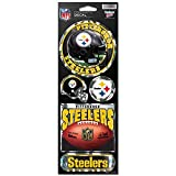 WinCraft NFL Pittsburgh Steelers Prismatic Stickers, Team Color, One Size