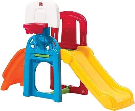 Step 2 - Tobogán de jardín con juegos (ColorBaby 85314): Amazon.es: Juguetes y juegos