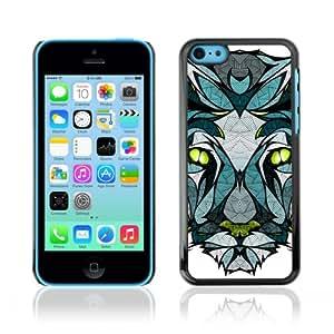 CQ Tech Phone Accessory: Carcasa Trasera Rigida Aluminio para Apple iPhone 5C - Beautiful Panther Illustration