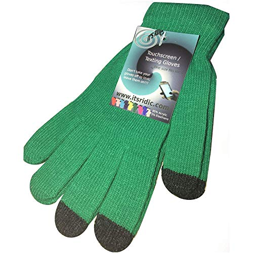 IT'S RIDIC! Warm Knitted Stretch touchscreen/texting winter gloves with a soft texture. Just thick enough to not be -