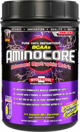 ALLMAX Nutrition Aminocore Caribbean Tropical Fruit -- 1000 g
