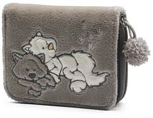 Nici 30635  - Monedero nieve gato de peluche