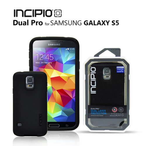 Original Incipio DualPro Dual Layer Protective Case Samsung Galaxy S5 (Black)