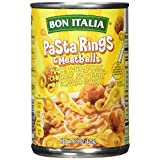 Bon Italia Pasta Rings and Meatballs in Tomato Sauce, 15 Ounce