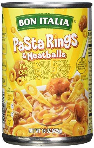 Price comparison product image Bon Italia Pasta Rings and Meatballs in Tomato Sauce,  15 Ounce