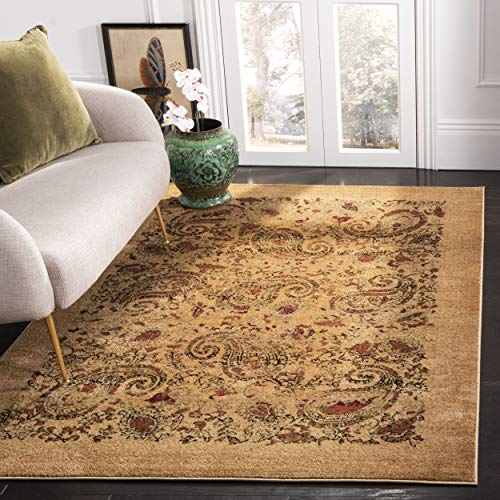 Safavieh Lyndhurst Collection LNH224A Traditional Paisley Beige and Multi Area Rug (10' x 14')