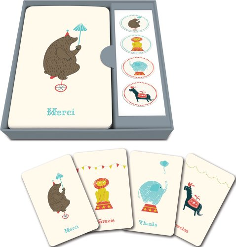 Studio Oh! Note Card and Sticker Set Available in 6 Designs, Jubilee, Box of 12