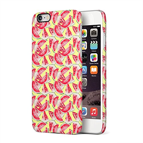 Watercolored Sliced Watermelon Pattern Apple iPhone 6 Plus, iPhone 6s Plus Plastic Phone Protective Case Cover