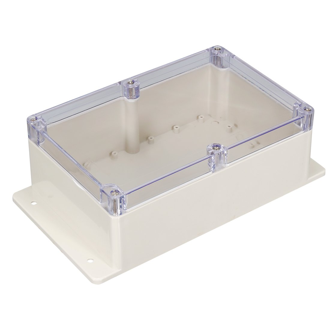 sourcingmap 158x90x46mm//6.22x3.54x1.81inch Wateproof Electronic ABS Plastic DIY Junction Project Box Enclosure Case Outdoor//Indoor with Clear Cover