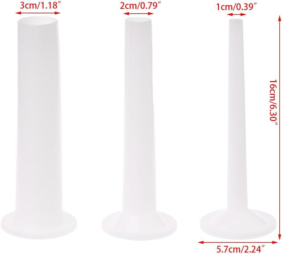 WE-WHLL 3 pi/èces en Plastique Tube de Farce de Remplissage de saucisses pour la Viande /à la Main Stuffer 5#