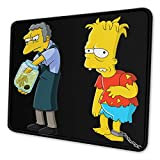 The Simpson Omarburton Computer Mouse Pad with Non-Slip Rubber Base Premium-Textured Stitched Edges Mouse Pads for Computers Laptop Office & Home