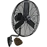 Garrison 2477844 Oscillating Wall Mount Fan, 3-speed Industrial, 9500 Cfm, 30 (Complete Set) w/ Bonus: Premium Microfiber Cleaner Bundle