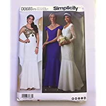 Simplicity D0685 Bridal Wedding Gown Bridemaid Dress Prom Dress Sewing Pattern Size D5 (4-6-8-10-12)