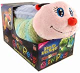 Pillow Pets Worm Glow Pets - Lightning Bug  Glow in the Dark Stuffed Animal Plush Toy