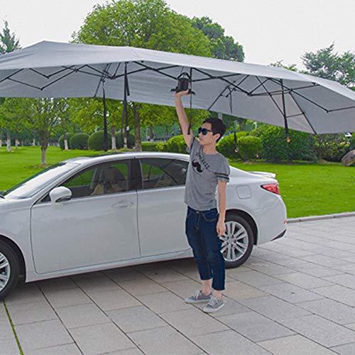 MachinYeser Carro semiautomático de la presión hidráulica del Coche Paraguas Plegable Anti-UV Car Carro movible Sombrilla del Sol Cubierta del toldo ...