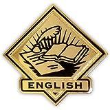 PinMart Black and Gold English Student School Teacher Lapel Pin