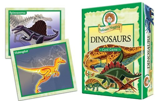 Professor Noggin's Dinosaurs - A Educational Trivia Based Card Game For Kids - Features 30 Illustrated Cards Including 180 Questions and a 3-Number Die (Ages 7+) by Professor Noggin