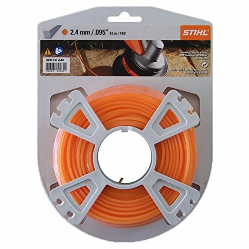 Stihl - Rollo de hilo de corte (cuadrado, 2,4 mm x 86 m): Amazon ...