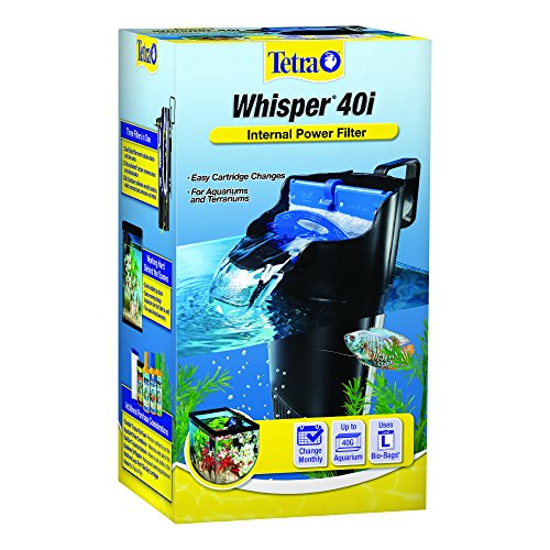 - Whisper In-Tank Filter 40i with BioScrubber for 20 - 40 gallon aquariums (25818)