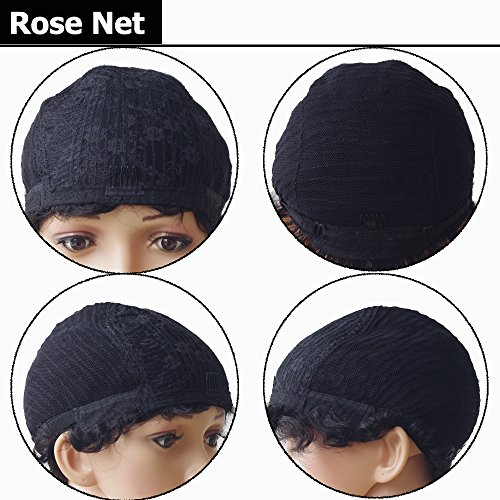 New Trendy Short Finger Wave Mommy Wig For Costume Party Dress 100 Virgin Human Hair With Rose Net