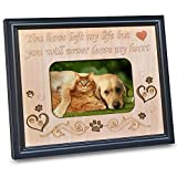 4x6 Pet Memorial Picture Frame with Engraved Sweet Little Saying in Memory Beloved Dog or Cat