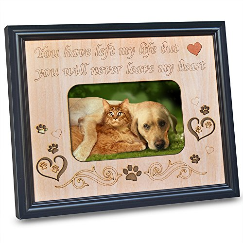 PETAFLOP 4x6 Pet Memorial Picture Frame with Engraved Sweet Little Saying In Memory of Beloved Dog or - Cats Pictures Dogs