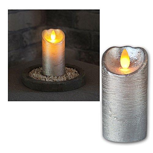 mit Echtwachs LED Wachskerze Twinkle Flame weiß Timer