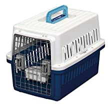 IRIS Dog Air Travel Carrier Crate, Navy, Small by IRIS OHYAMA, Inc.