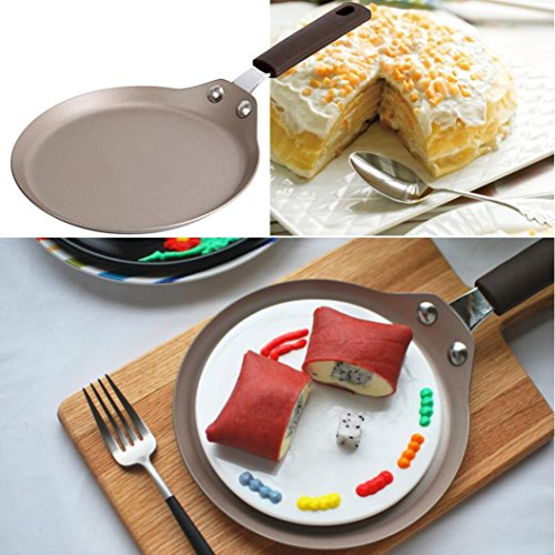 """Nonstick pan, Sacow 6"""" Non-stick Copper Frying Pan With Ceramic Coating And Induction Cooking Oven Safe"""
