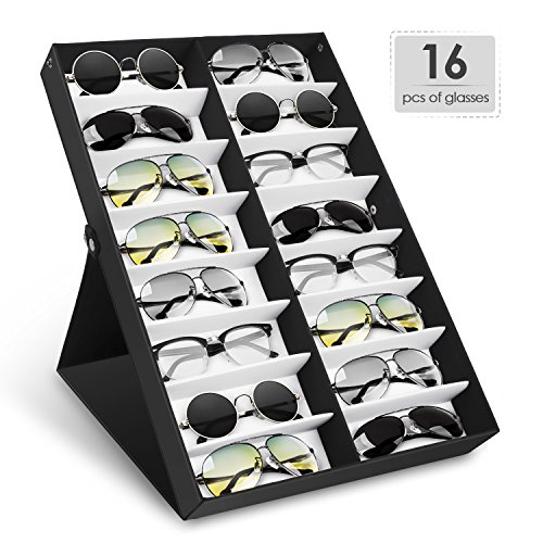 Amzdeal Sunglasses Display Eyeglasses Organizer For Watches Jewelry Hair Accessories (16 - Display Sunglass