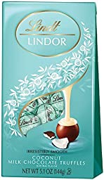 Lindt LINDOR Coconut Milk Chocolate Truffles, 5.1 Ounces - Pack of 3