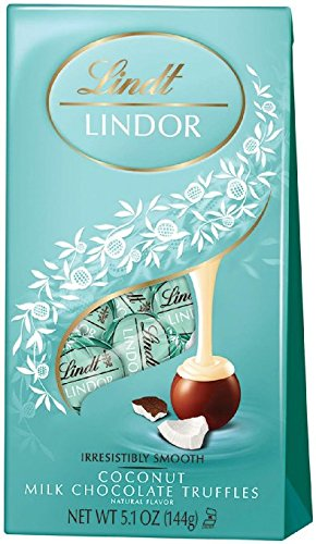 Lindt LINDOR Coconut Milk Chocolate Truffles, 5.1 Ounces - Pack of 3 by Lindt