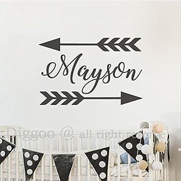 Amazoncom Arrow Name Wall Decal Custom Personalized Baby Name - Baby name wall decals