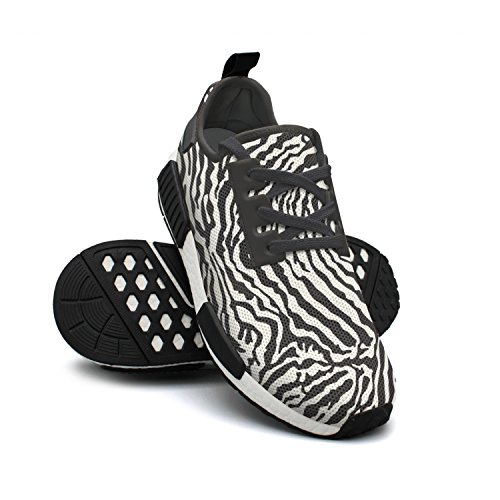 Lightweight Fashion Fur Gym Simple Breathable Sneaker Zebra Mesh Shoes Art Womens FAAERD n6xZYqq