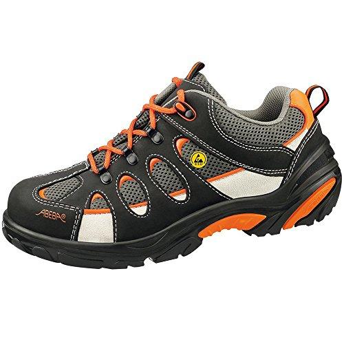 Abeba 34523-40 Crawler Chaussures de sécurité bas ESD Taille 40 Noir/Orange