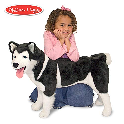 Melissa & Doug Giant Siberian Husky - Lifelike Stuffed Animal Dog (over 2 feet tall)