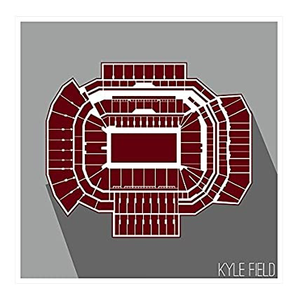 Amazon.com: ArtsyCanvas Texas A&M Aggies - Kyle Field (24x24 Poster on map of bud walton arena, map of raymond james stadium, map of smoothie king center, map of mclane stadium, map of goodyear ballpark, map of ohio stadium, map of at&t center, map of michigan stadium, map of nrg stadium, map of ralph wilson stadium, map of paul brown stadium, map of bank of america stadium, map of doak campbell stadium, map of college station, map of lucas oil stadium, map of bramlage coliseum, map of bbva compass stadium, map of byrd stadium, map of ben hill griffin stadium, map of levi's stadium,