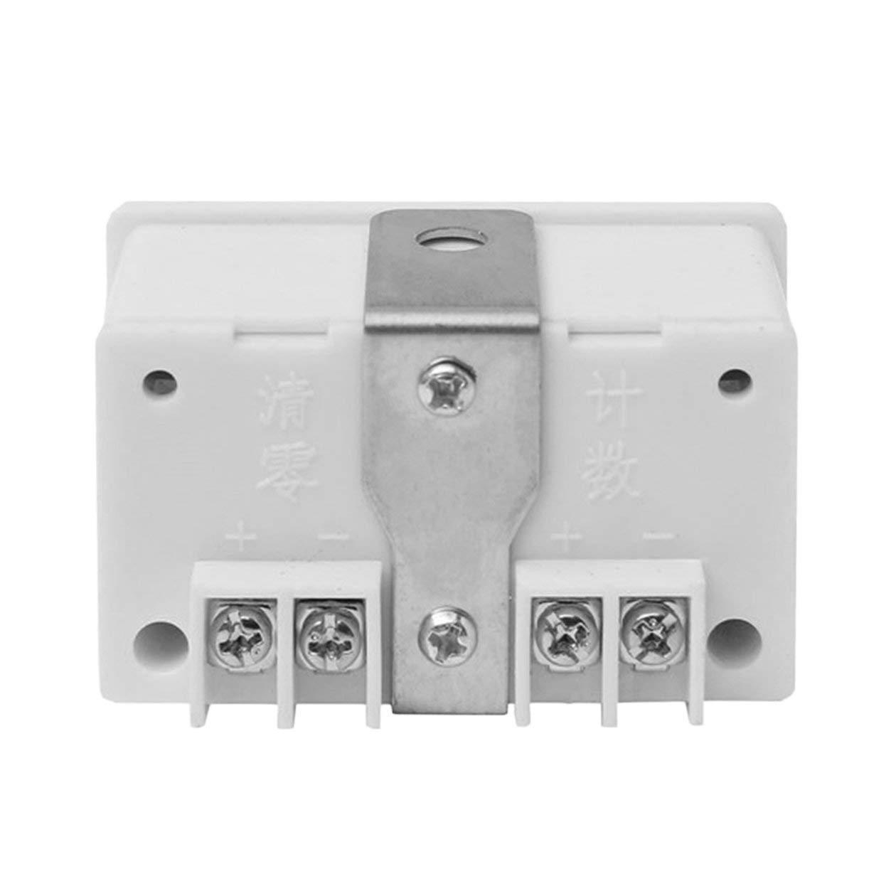 Heraihe Golpe pr/áctica Digital Contador electr/ónico magn/ético inductivo LCD Pantalla Interruptor de proximidad Ronda poderoso im/án TT-5J