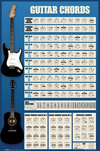 Guitar 18 guitar chords : Guitar Chords Chart Music Poster 12×18   GuitarsLesson.com