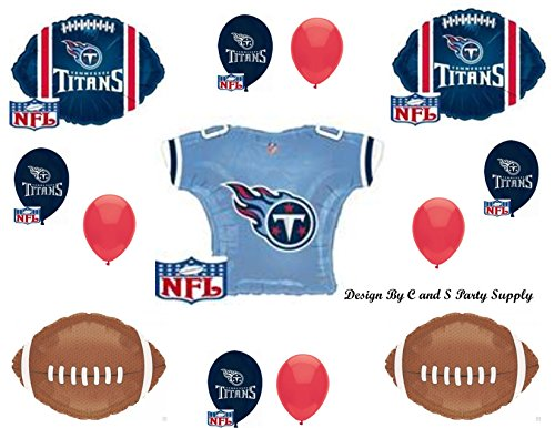 TENNESSEE TITANS 13 PIECES! Birthday Party Balloons Decoration Supplies ()