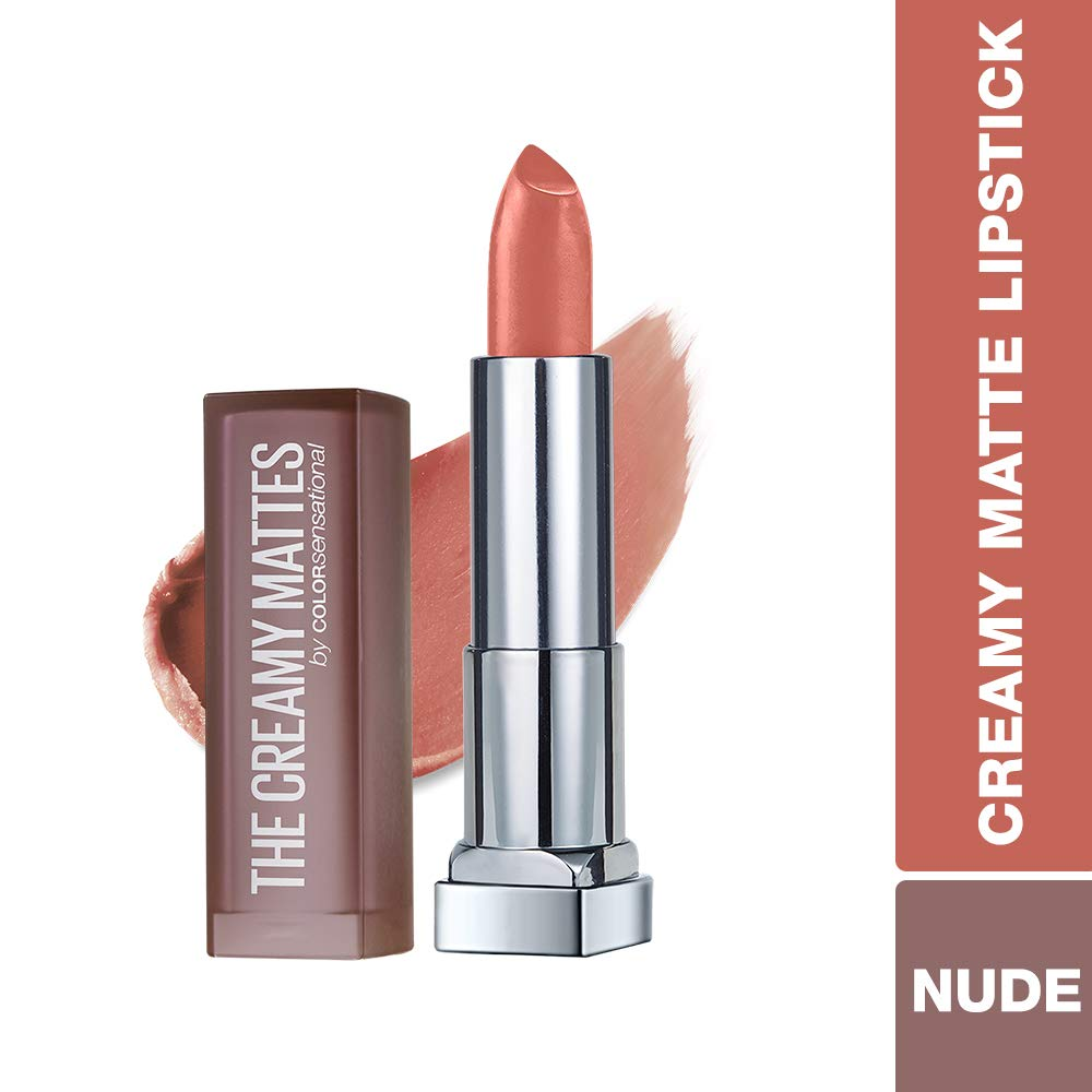 Maybelline New York Color Sensational Creamy Matte Lipstick, Clay Crush,  0 15 oz